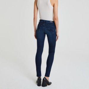 AG The Legging Dark Wash Super Skinny Blue Jeans